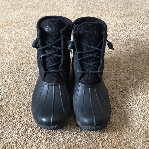 Black Sperry Duck Boots   Poshmark